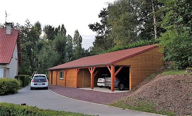 Construction d'un hangar - Defi Énergies - Constructeur de maison en ossature bois
